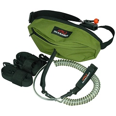 SUP Bag with coiled leash and carry strap